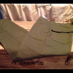 Pants - Green utility/army style pants